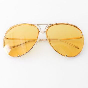 Aviator Sunglasses - Yellow