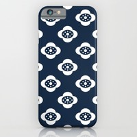 flower joy - blue iPhone & iPod Case by Her Art