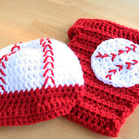 Toddler Baseball Set, Baseball Hat and Diaper Cover, Baseball Costume, 12 to 24 months size, Photography Prop