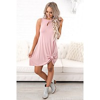 Cut It Out Basic Dress (Dusty Purple)
