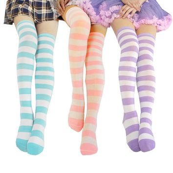 Stripes Collection Over The Knee Thigh Socks - Women High Socks