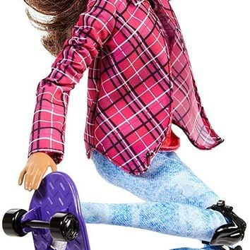 Mattel® Barbie® Made to Move The Ultimate Posable Skateboader Doll