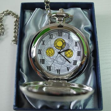 High Quality Doctor Who Cosplay Pocket Watch Dr Who Dr David Tennant Master's Fob Watches With Chain