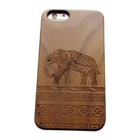 iPhone 6S Case,VIVIPOW [NatureWOOD Series]Aztec Elephant Pattern iPhone 6s And iPhone 6,Cute elephant phone case for iPhone 6 And 6S 4.7""