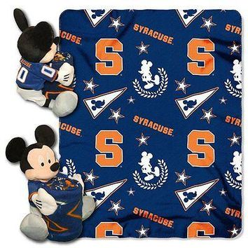 Syracuse Orange NCAA Mickey Mouse Throw and Hugger Pillow Set