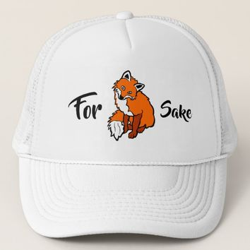 Red Fox, for sake funny customizable Trucker Hat