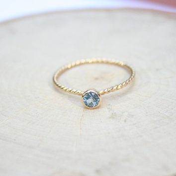 Birthstone Ring Dainty Cute Rings Handmade