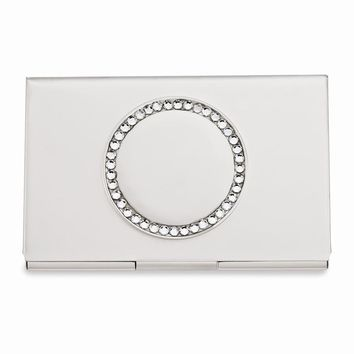Nickel-plated Business Card Holder - Engravable Personalized Gift Item