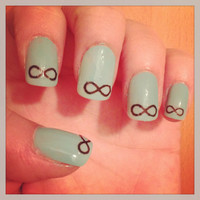 Infinity Nail Decals by PaipurNails on Etsy
