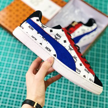 Mcm X Puma Suede Classic Red White Blue Sneaker - Best Online Sale
