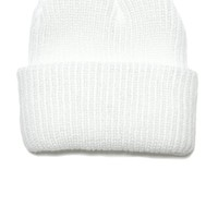 Knit Watch Cap White