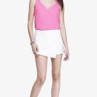 FAUX WRAP SKORT- WHITE from EXPRESS
