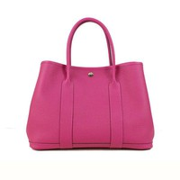 Auth HERMES Garden Party PM Women Country tote bag