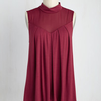Take Ceviche Day as It Comes Top in Maroon | Mod Retro Vintage Short Sleeve Shirts | ModCloth.com