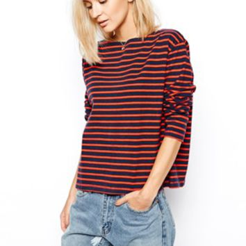 Wood Wood Breton Stripe Top with Long Sleeves