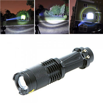 5-mode 2000 Lumen Slimline Zoomable LED Survival Flashlight