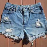 CUSTOM Distressed High Waisted Shorts