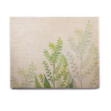 "Viviana Gonzalez ""Botanical Vibes 06"" Green Pastel Digital Birchwood Wall Art"