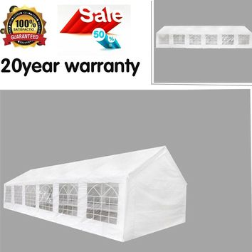 PARTY TENT WHITE 40' X 20' OUTDOOR GAZEBO CANOPY STRUCTURES SHADE WATERPROOF US