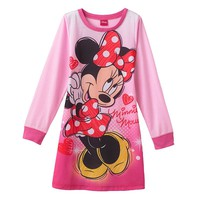 Disney Mickey Mouse & Friends Minnie Mouse Nightgown - Girls 4-6x
