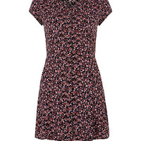 Teens Daisy Print Button Up Tea Dress