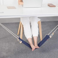 Adjustable Mini Foot Hammock Portable Desk Foot Stool Home and Office Foot Rest Stands