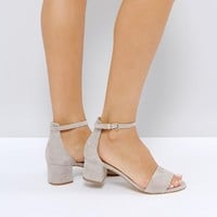 Freepeople Suede Kitten heel Sandal at asos.com