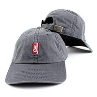 Coca-Cola Can Micro Logo Adjustable Backstrap Slouch Dad Hat Gray