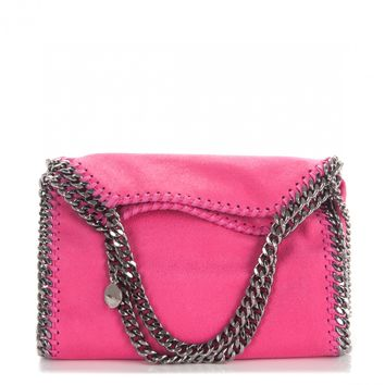 STELLA MCCARTNEY Shaggy Deer Mini Falabella Tote Hot Pink