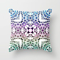 Watercolor Realm Throw Pillow by Lisa Argyropoulos