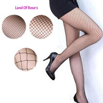 1 Pair Mesh Fishnet Nylon Tights Long Stocking Jacquard Step Foot Seam Pantyhose High Over Knee