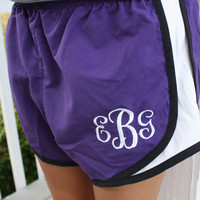 Monogrammed Running Shorts YOUTH and ADULT by GladevilleFarmhouse