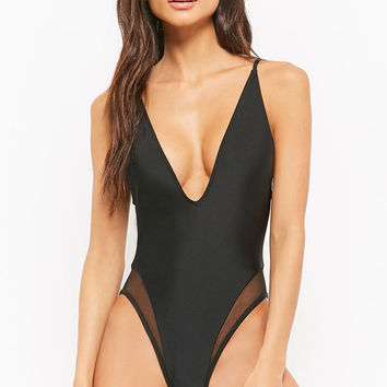 Mesh One-Piece Swimsuit
