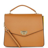 Tan Colour Block Shoulder Bag