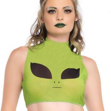 Women's Alien Crop Top