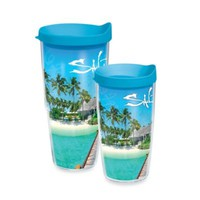 Tervis® Salt Life® Tropical Island Wrap Tumbler with Blue Lid
