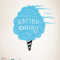 Vinyl Wall Decal Sticker Cotton Candy #OS_MB171