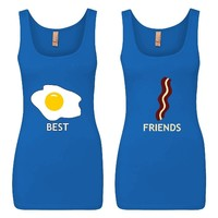 Eggs and Bacon Best Friends Girl BFFS Jersey Tank Tops
