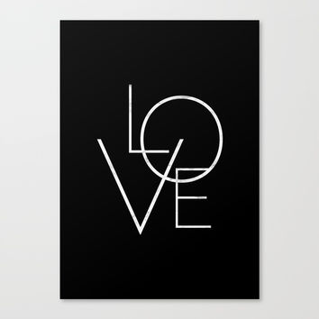 Love Canvas Print by Printapix