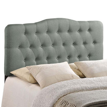 Gray Annabel King Fabric Headboard