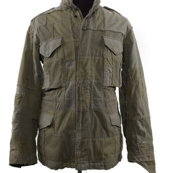 Men's Junya Watanabe Man Olive Cotton Size S Jacket