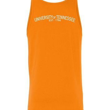 Official NCAA University of Tennessee Volunteers, Knoxville Vols UT UTK Women's Unisex Tank - Est 1794 35tn-1-b