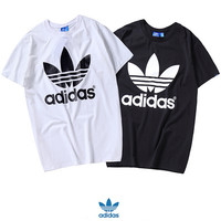 "MALE/ Women Fashion ""Adidas"" Print T-Shirt Top Tee"
