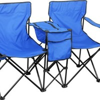 Double Folding Camping Chair & Ice Chest
