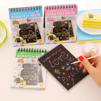Cute Stationery Scrapbooking Memo Pad With Pencil Office Supplies Scratch Note Papeleria Items Material Escolar Kawaii Memo Pad