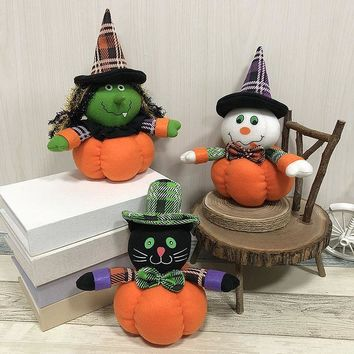 1PC Halloween Decoration Pumpkin Doll Ghost Festival Bar Dance Mall Hotel Gifts Party Supplies