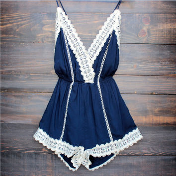 Navy Blue Romper