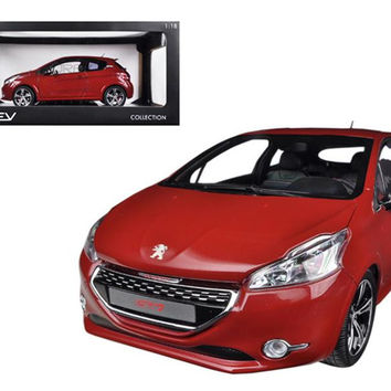 2013 Peugeot 208 GTI Red 1-18 Diecast Car Model by Norev