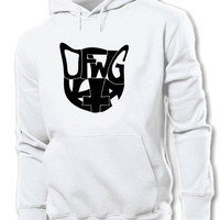 Odd Future OFWGKTA Cat Head White Hoodie