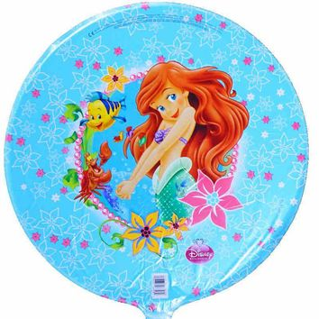 3PC 18inch cartoon little Mermaid balloons princess Ariel helium balloon birthday party decorations kids air globo toys